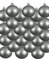 18x glazen kerstballen mat mintgroen 8 cm kerstboom versiering decoratie