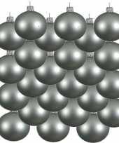 24x glazen kerstballen mat mintgroen 6 cm kerstboom versiering decoratie