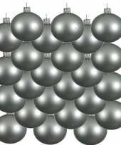 24x glazen kerstballen mat mintgroen 8 cm kerstboom versiering decoratie