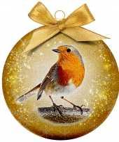 2x dieren kerstballen met vogels 8 cm