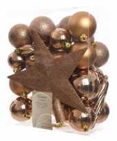 33 delige kerstballen set brons
