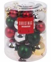 44x kunststof kerstballen mat glans glitter goud 5 6 7 8 cm kerstboom versiering decoratie 10138317