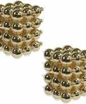 72x glazen kerstballen glans goud 6 cm