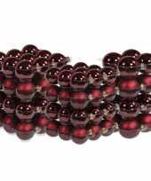 88x stuks glazen kerstballen bordeaux rood 4 6 en 8 cm mat glans