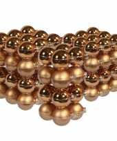 88x stuks glazen kerstballen koper 4 6 en 8 cm mat glans