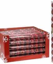 9 delige kerstballen set rood