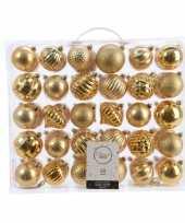 Gouden kerst kerstballen mix 60 delig 10104798