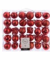 Gouden kerst kerstballen mix 60 delig