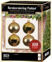Gouden kerstballen pakket 108 delig voor 210 cm boom
