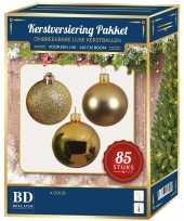 Gouden kerstballen pakket 85 delig voor 180 cm boom