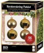 Gouden kerstballen pakket 96 delig voor 180 cm boom