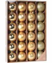 Gouden kerstballen set 24 stuks 6 cm