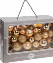 Gouden kerstballenset 86 delig