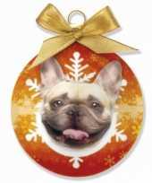 Huisdieren kerstballen franse bulldog honden 8 cm