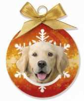 Huisdieren kerstballen golden retrievers honden 8 cm
