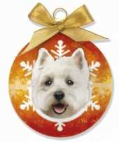Kerstballen west highland terrier honden 8 cm