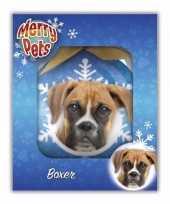 Kerstversiering dieren kerstballen boxer honden