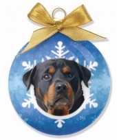 Kerstversiering dieren kerstballen rottweilers honden 8 cm