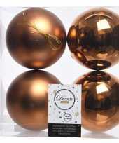 Kerstversiering kerstballen koper kunststof 10 cm