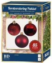 Rode kerstballen pakket 85 delig voor 180 cm boom