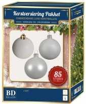 Witte kerstballen pakket 85 delig voor 180 cm boom 10161747