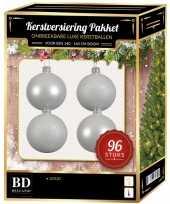 Witte kerstballen pakket 96 delig voor 180 cm boom